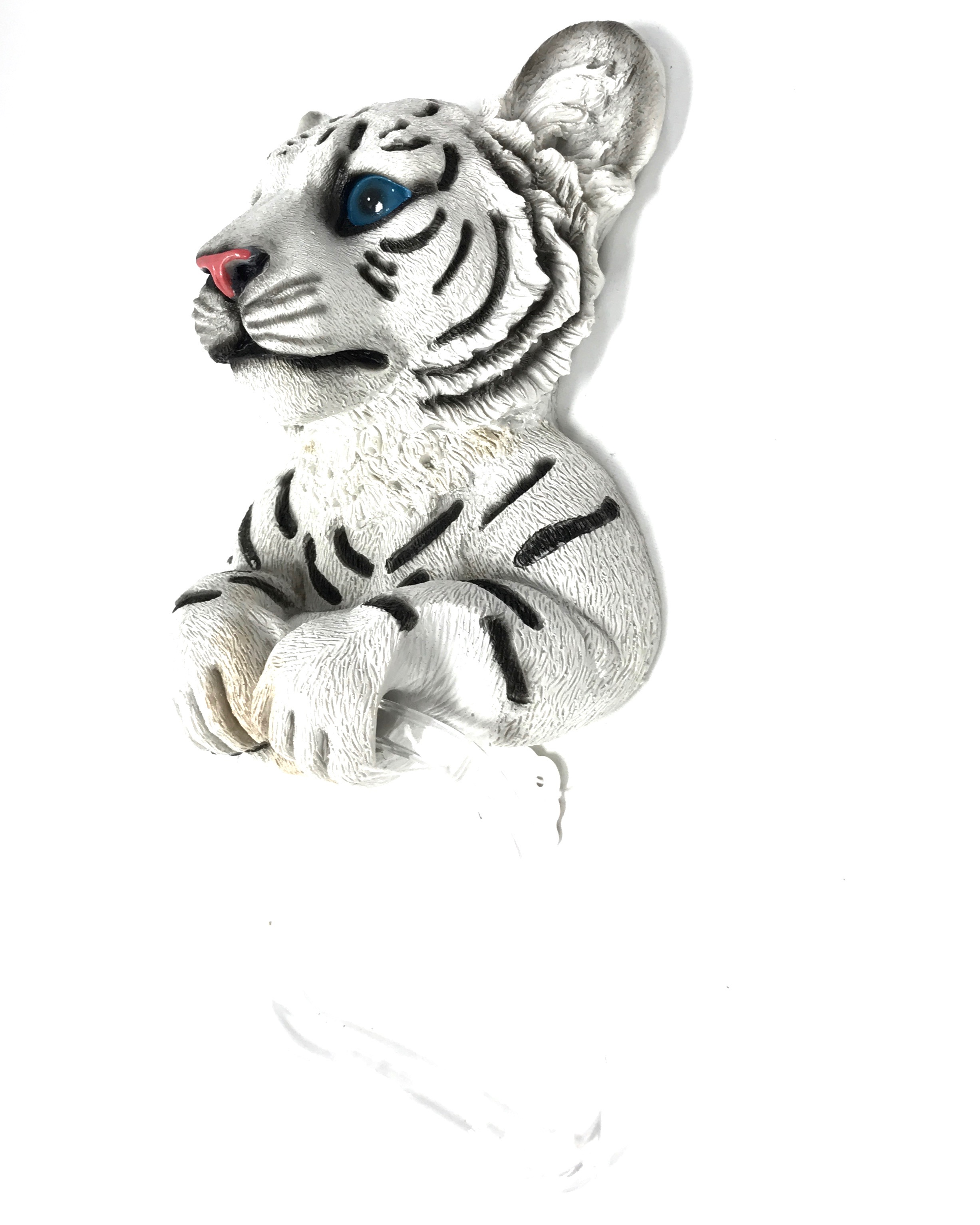 White Tiger Towel Holder