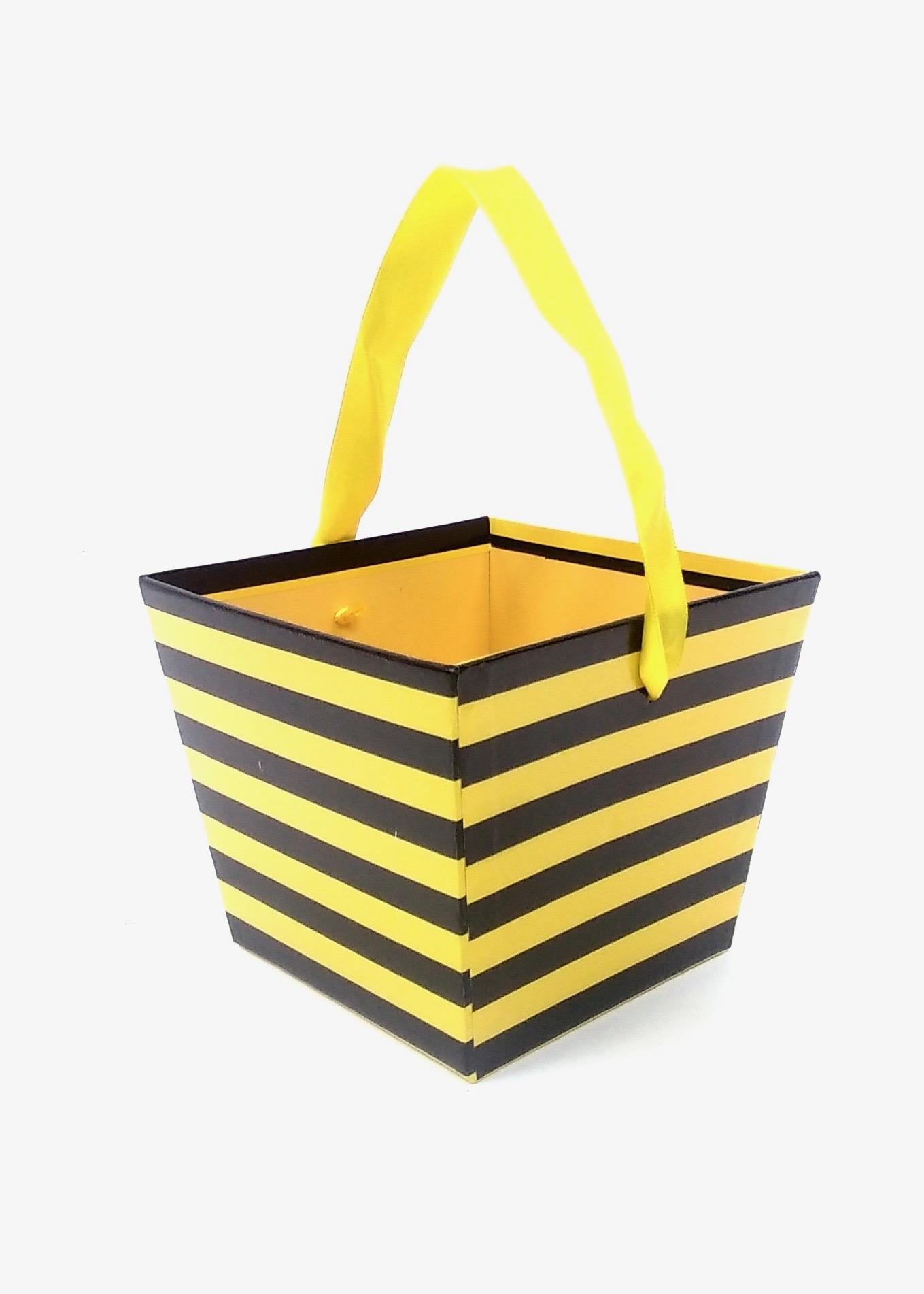 Gift Basket Chevron Black/Yel