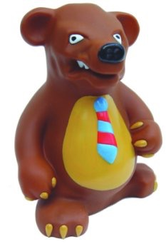 027 Bear Wallstreet Dog Toy