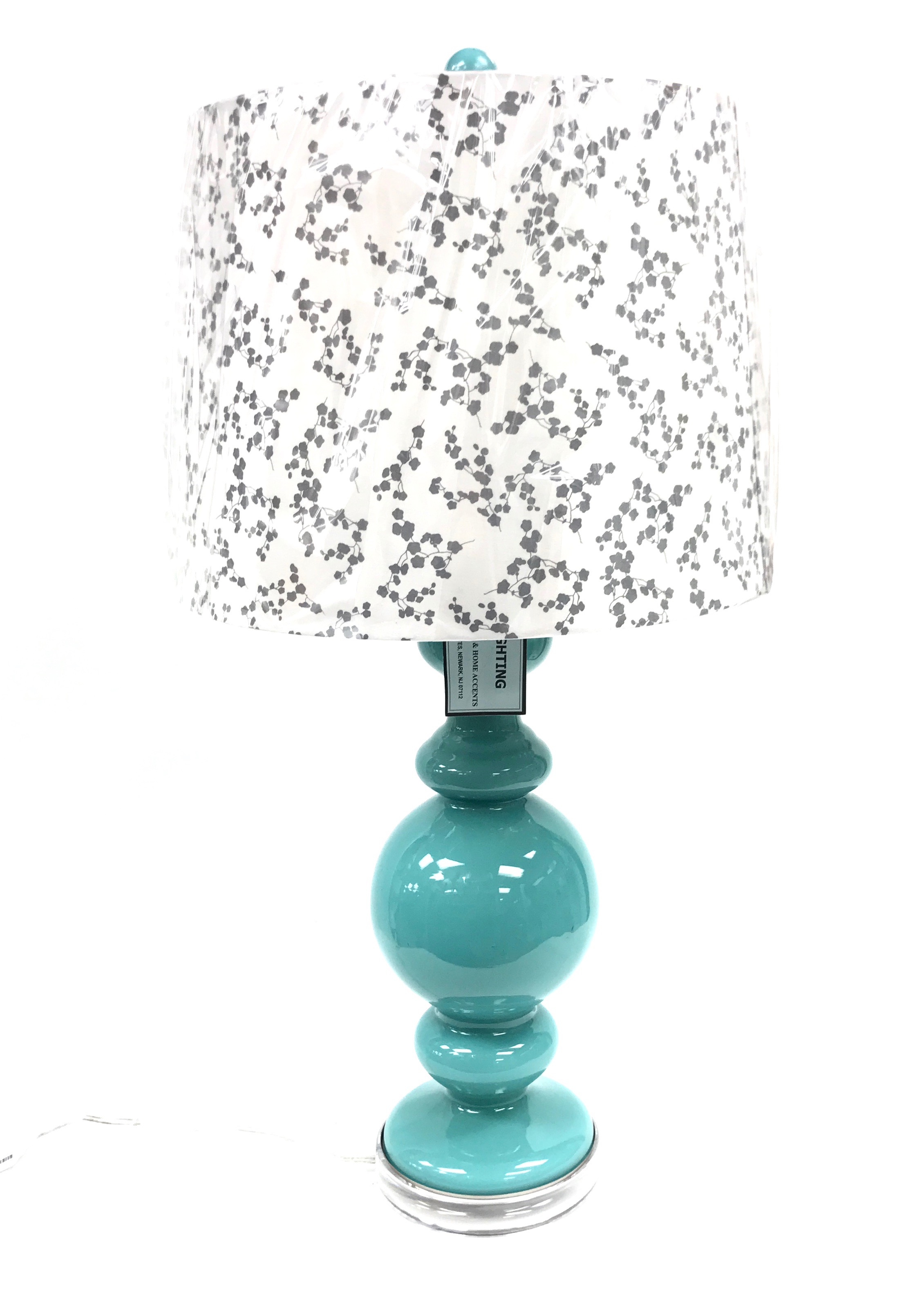 "27"" Glass Lamp - Dark Teal - As Is"
