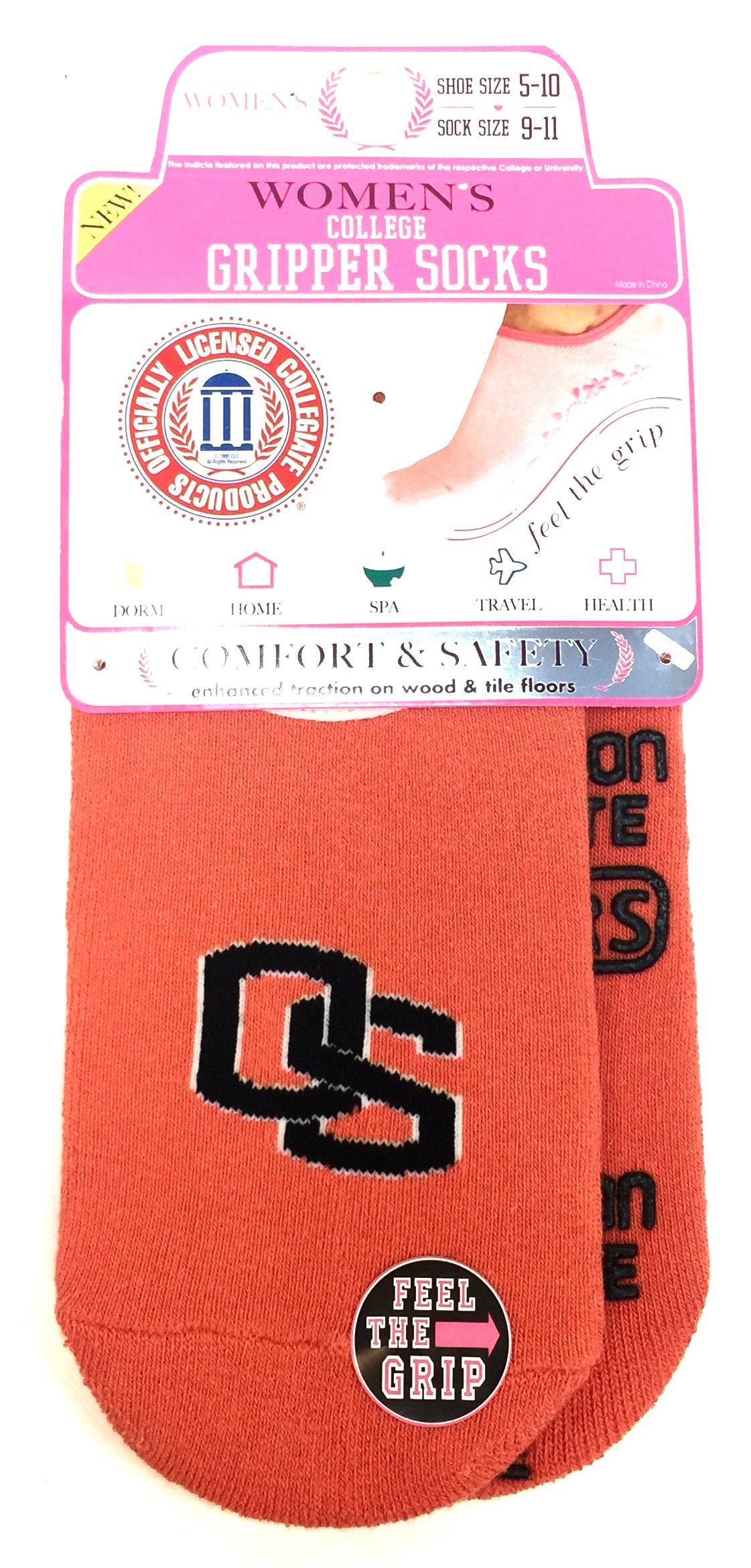 Womens College Gripper Sock - Oregon State