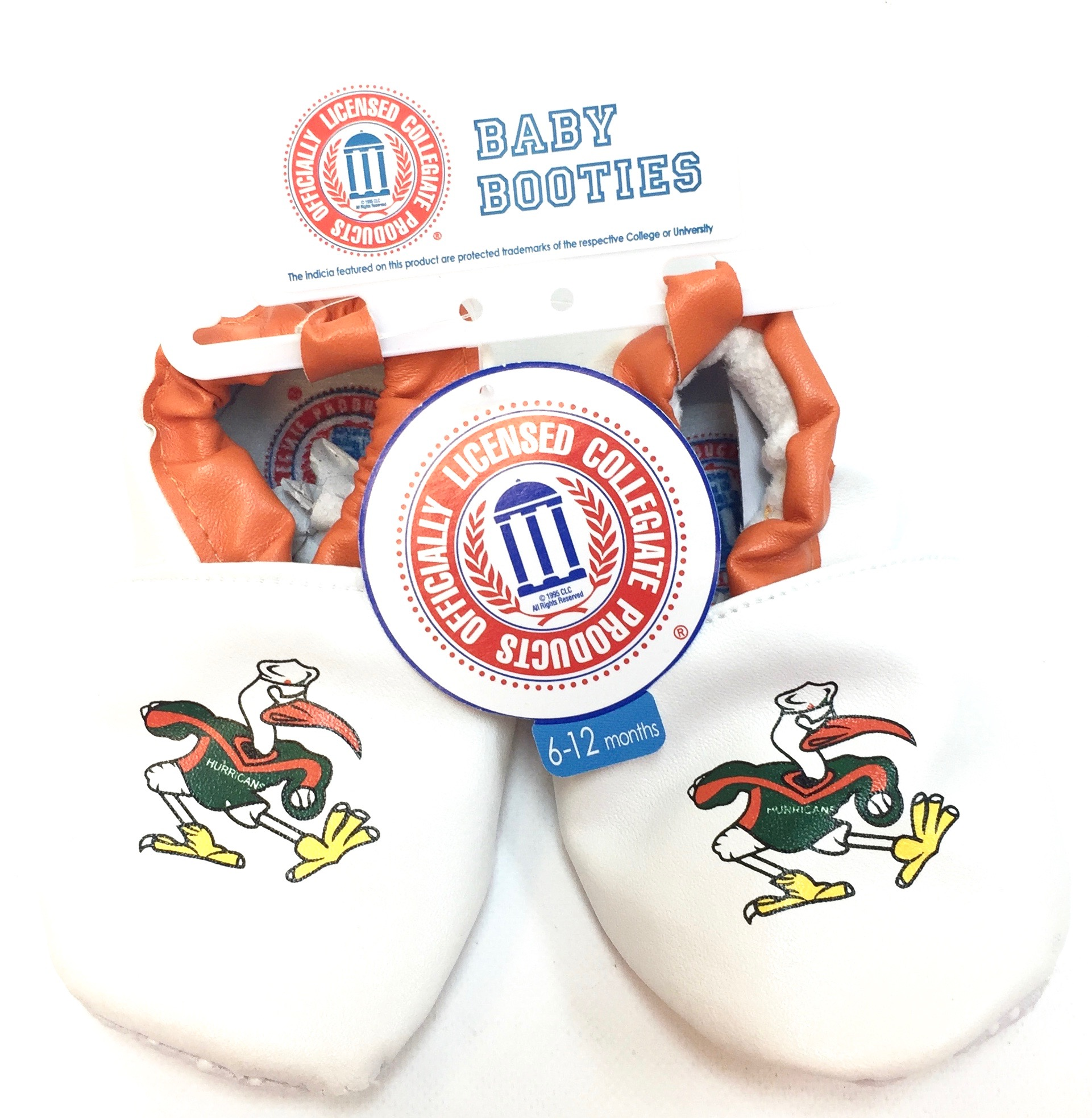 Baby Booties - Miami Hurricanes