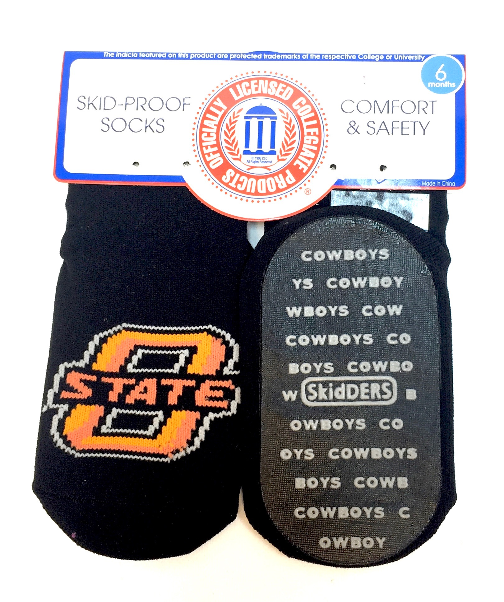 1 Pk Skid Proof Sock - Oklahoma Cowboys