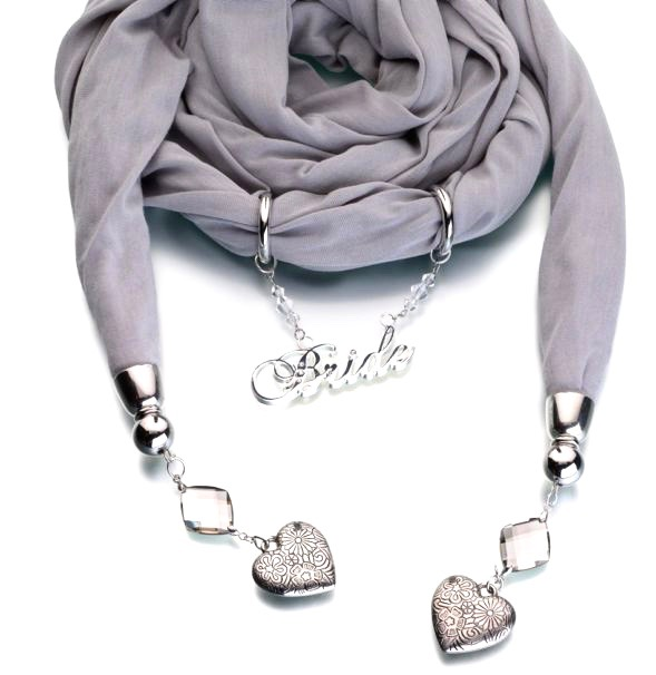 Bride Scarf Grey