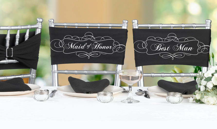 Chair Sash Set-Maid/Best