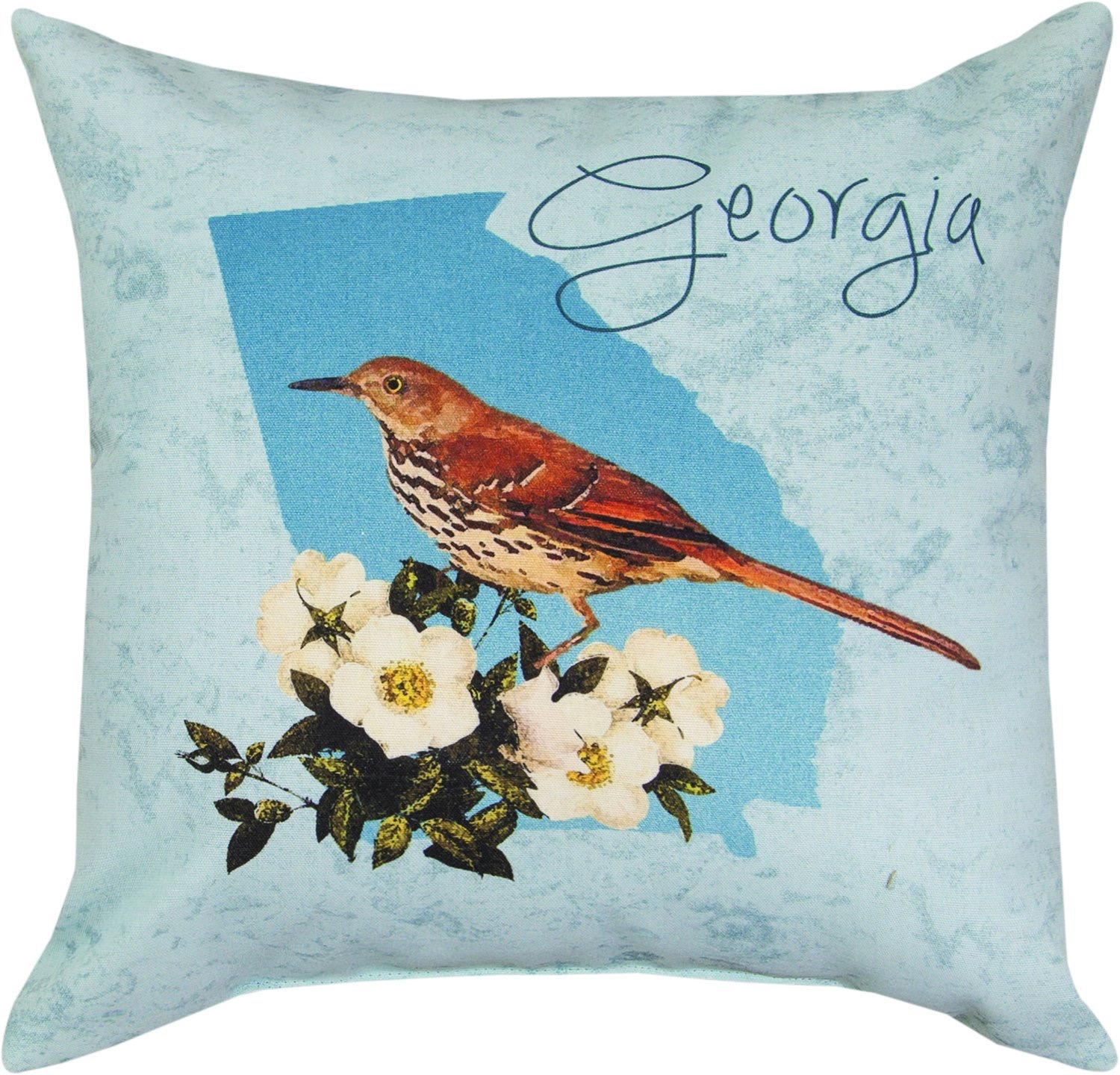 Georgia Brown Thrasher Pillow