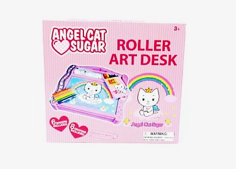 (ACSRA001) Angel Cat Sugar Roller Art Desk