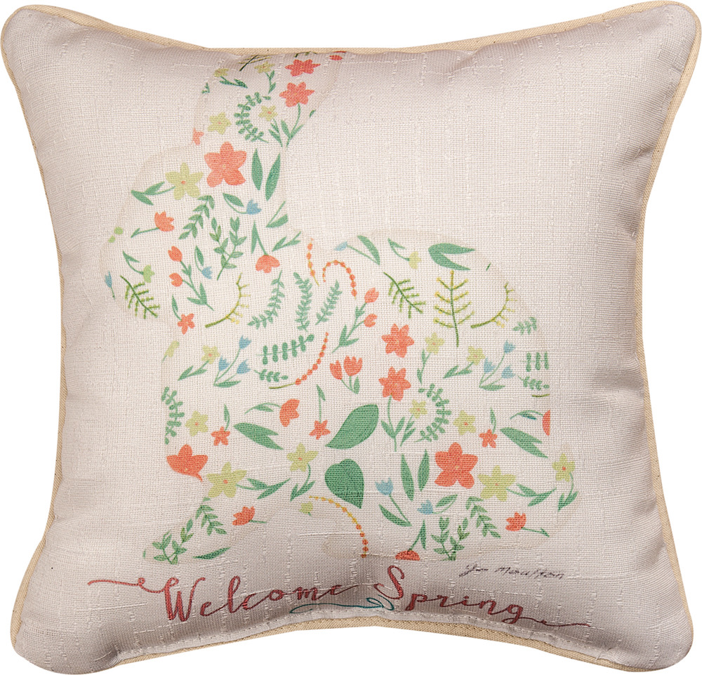 "Bunny Welcome 12"" Pillow"