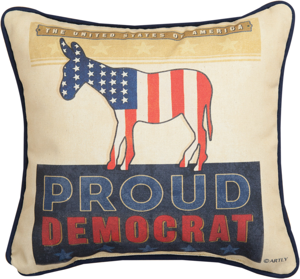 "Proud Democrat 12"" Pillow"