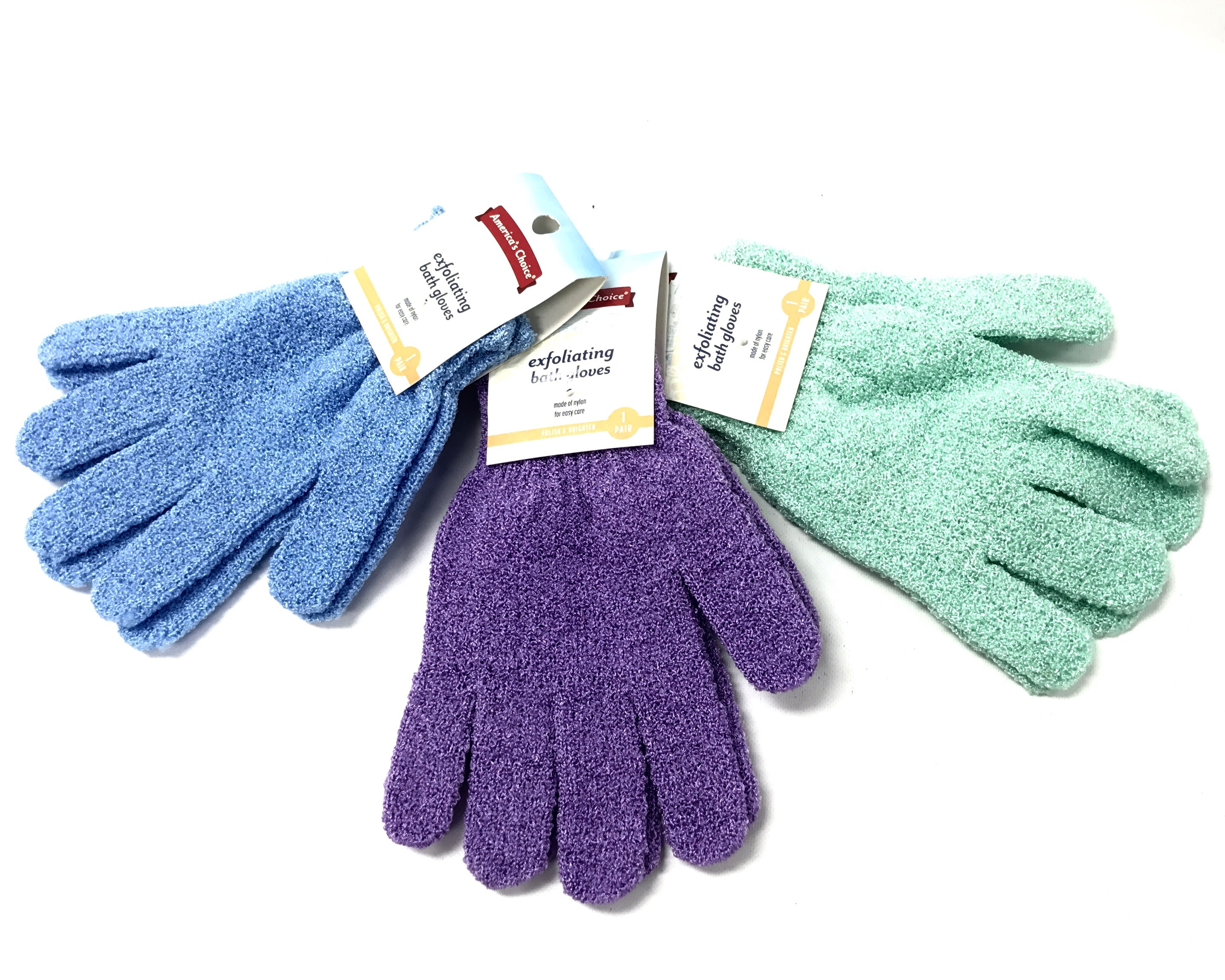 Exfoliating Wash Gloves Asst