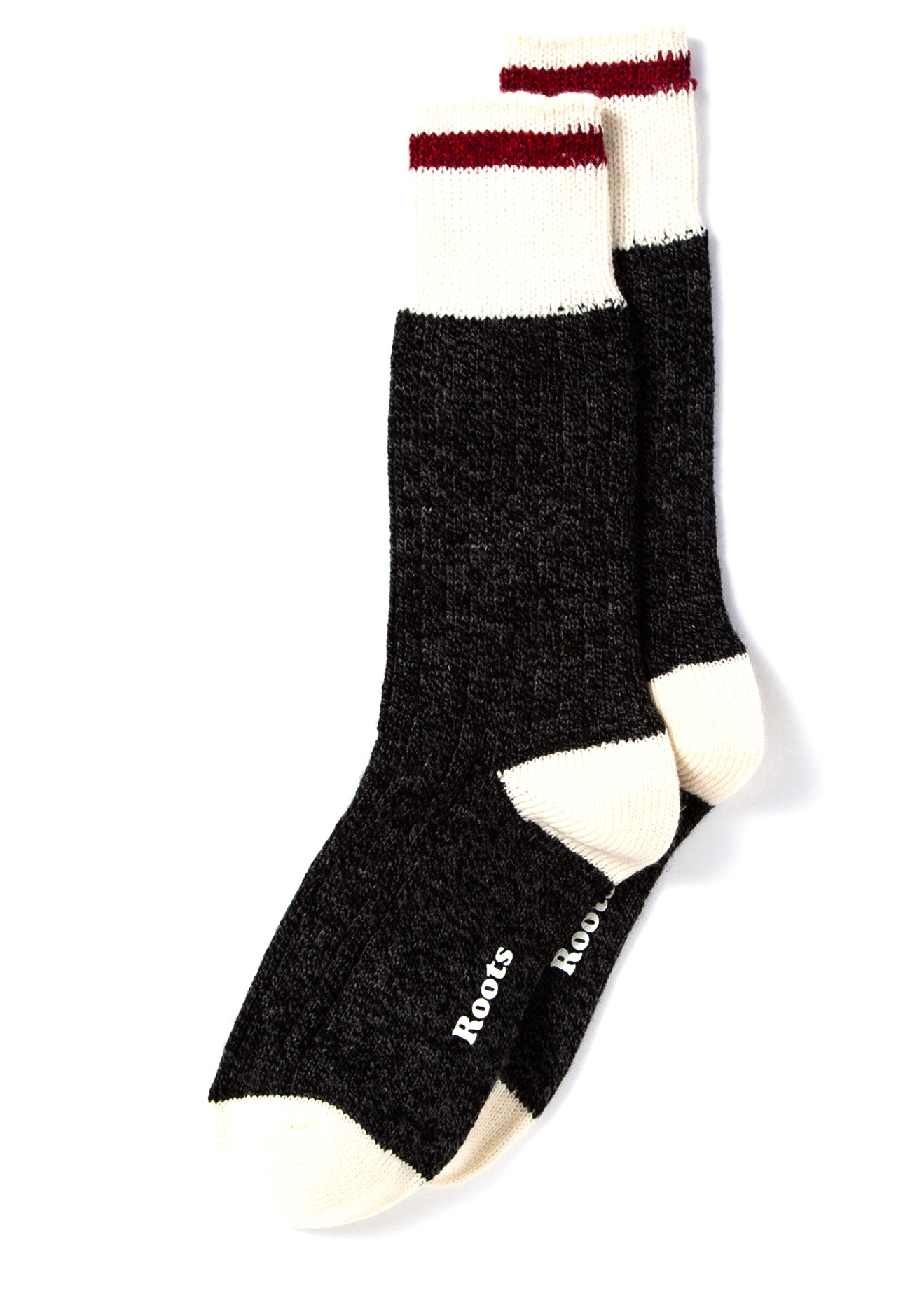 Womens Cabin Socks 2Pk Black/Red