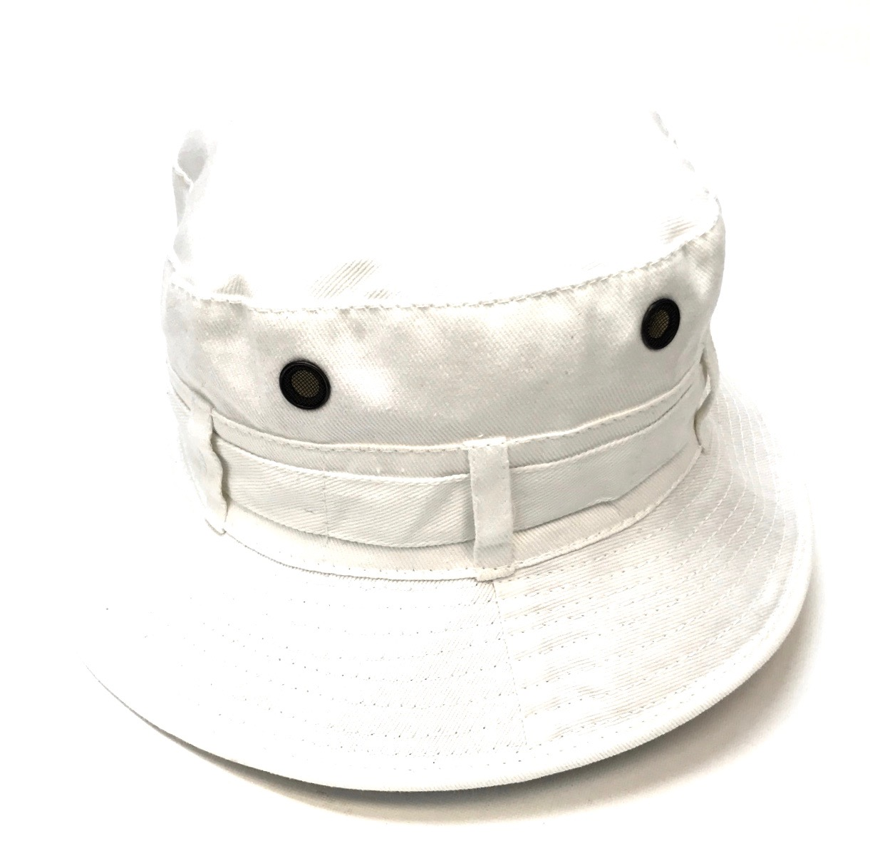 Canvas Safari Hat White