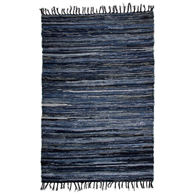 Solid Denim Rug 48x72