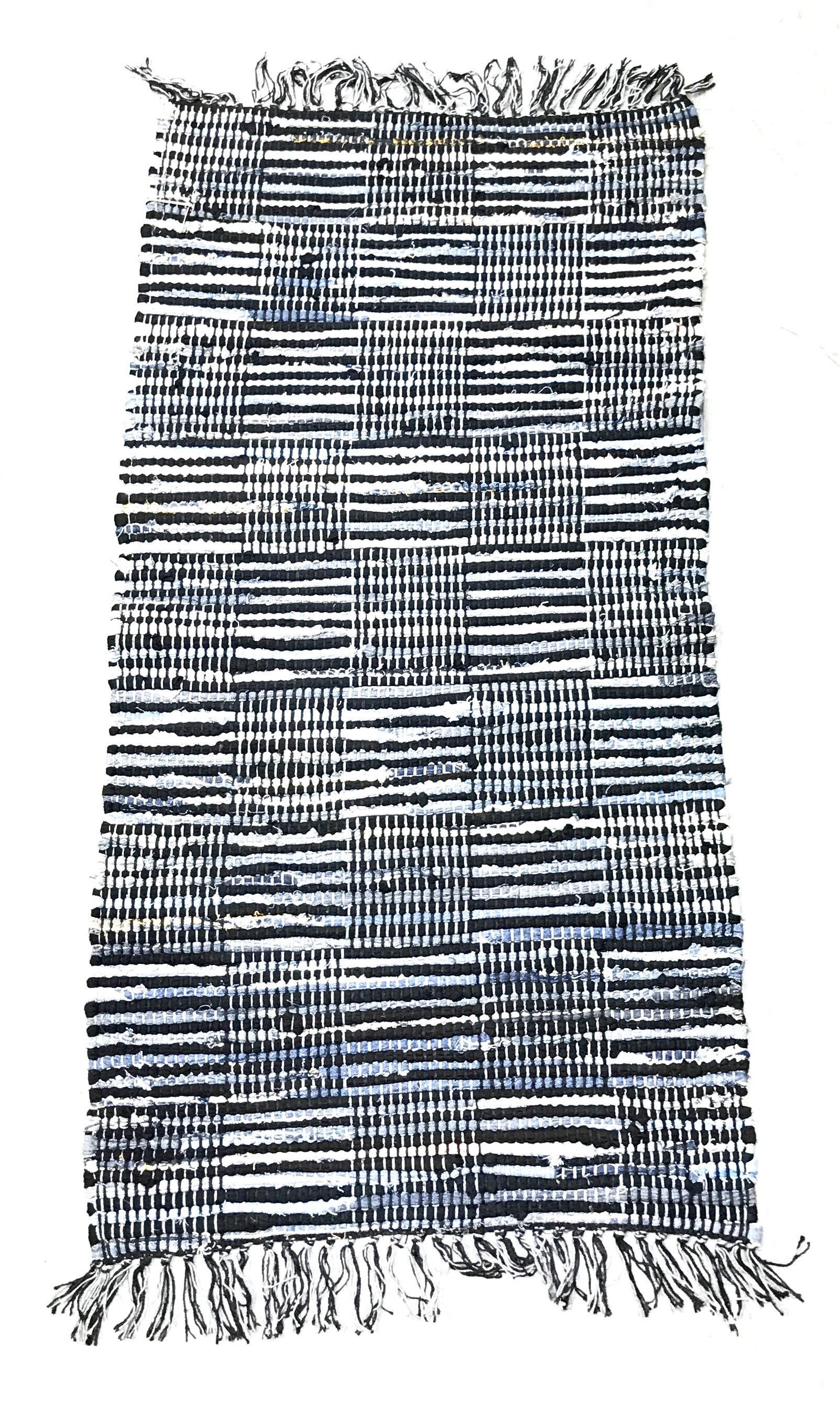 Denim Jute Check Rug 24x48