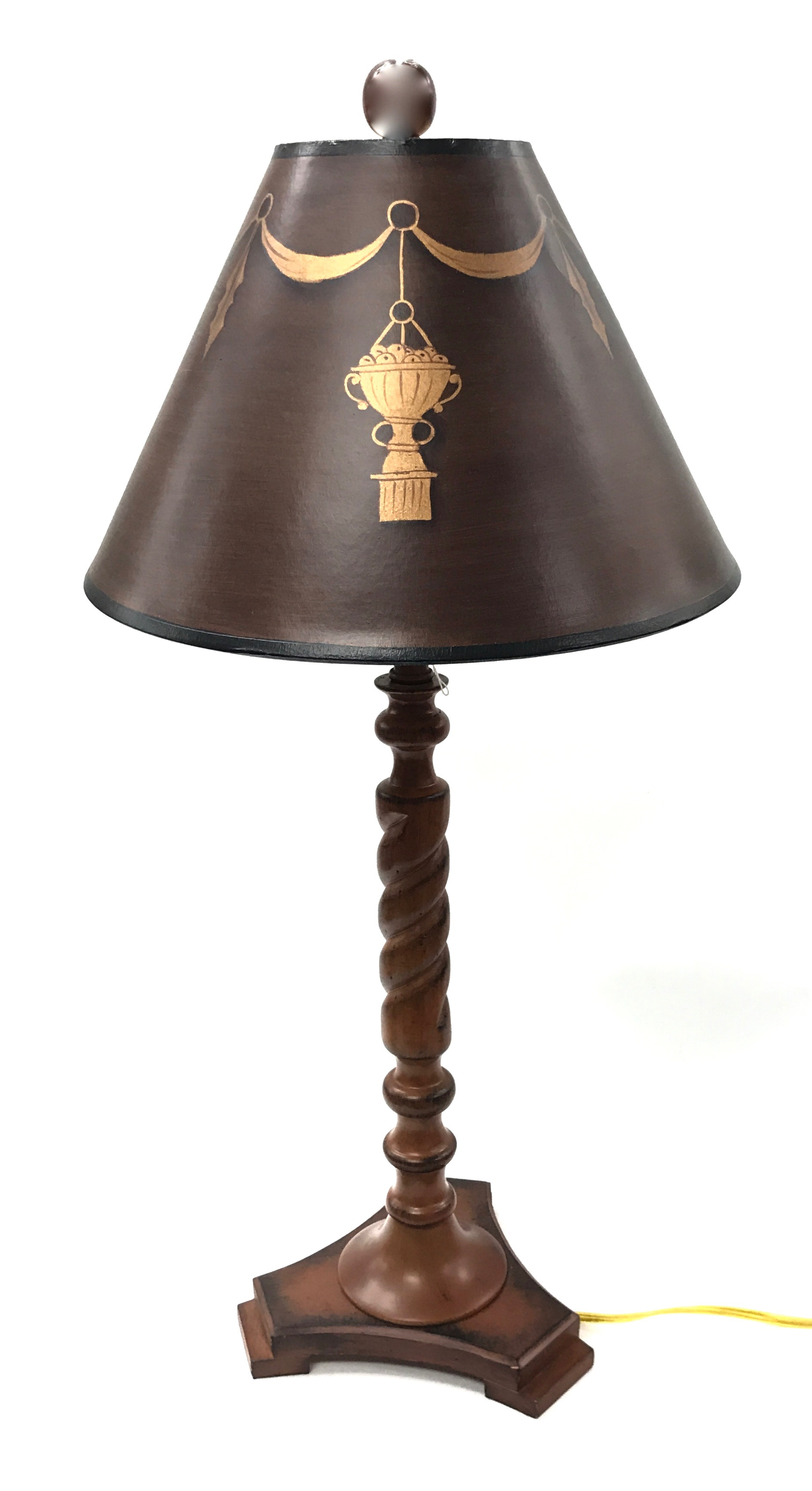 "26"" Wood Table Lamp - Mahogany"