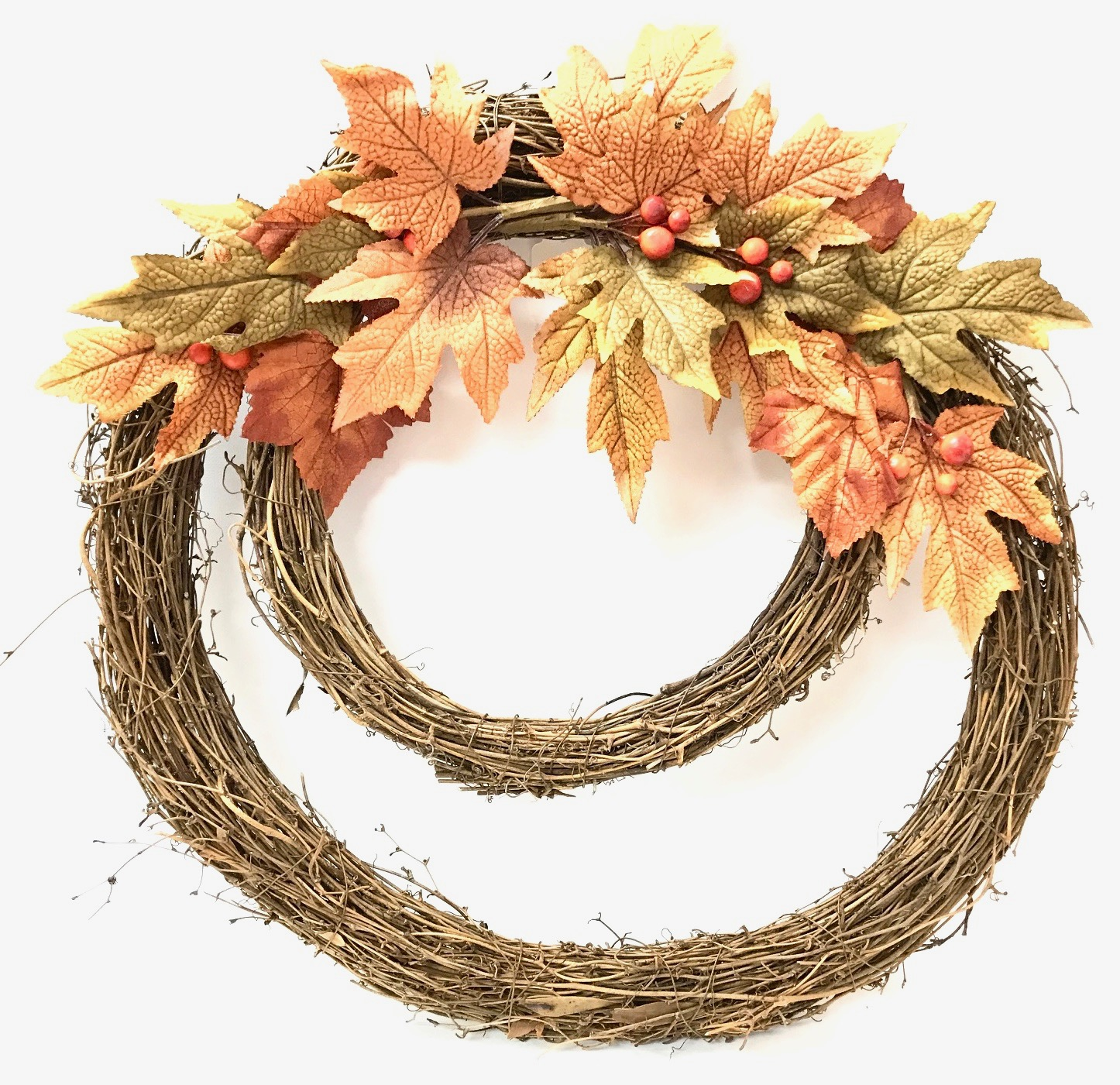 Double Ring Harvest Wreath