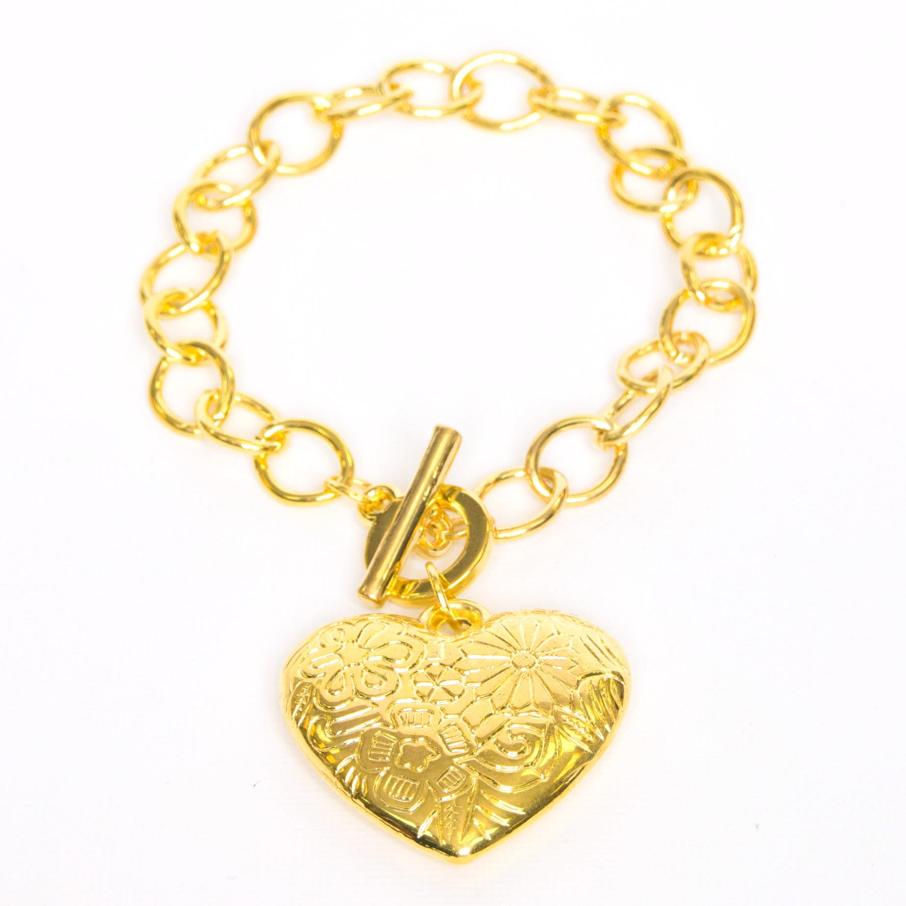Single Heart Bracelet - Gold