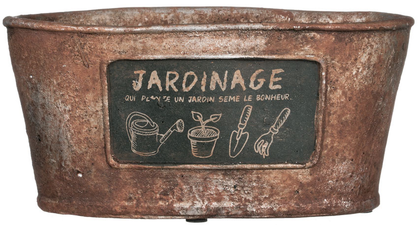 "7.5"" x 3.5"" Oval Jardinage Planter"