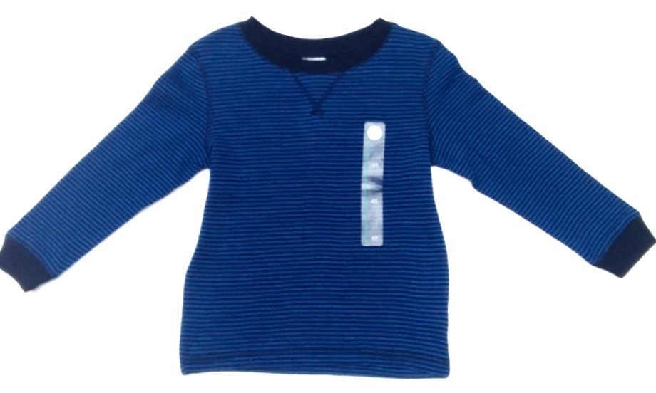 4T Toddler Tee Navy Stripe