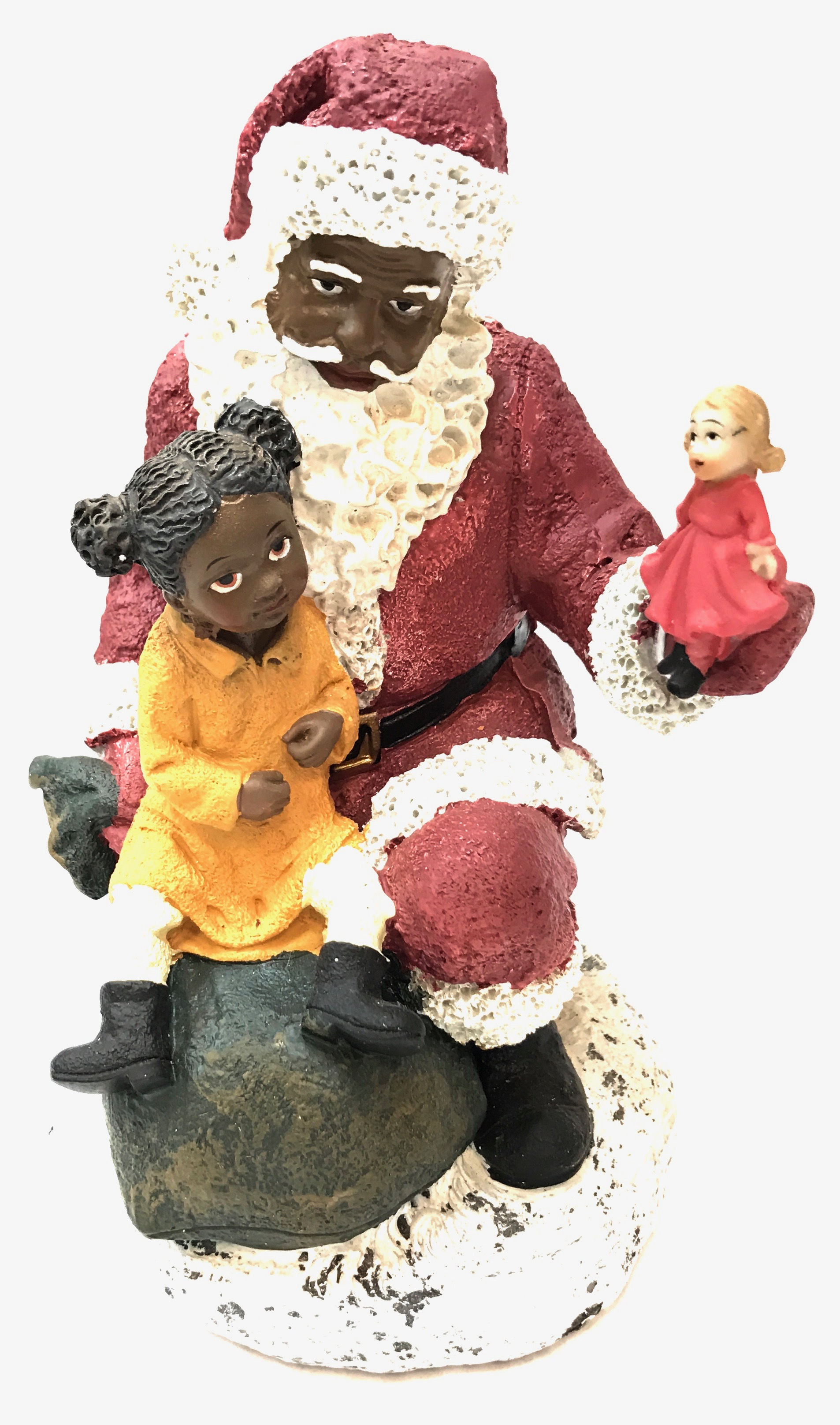 "Ethnic Santa With Child 8"" 2/A"