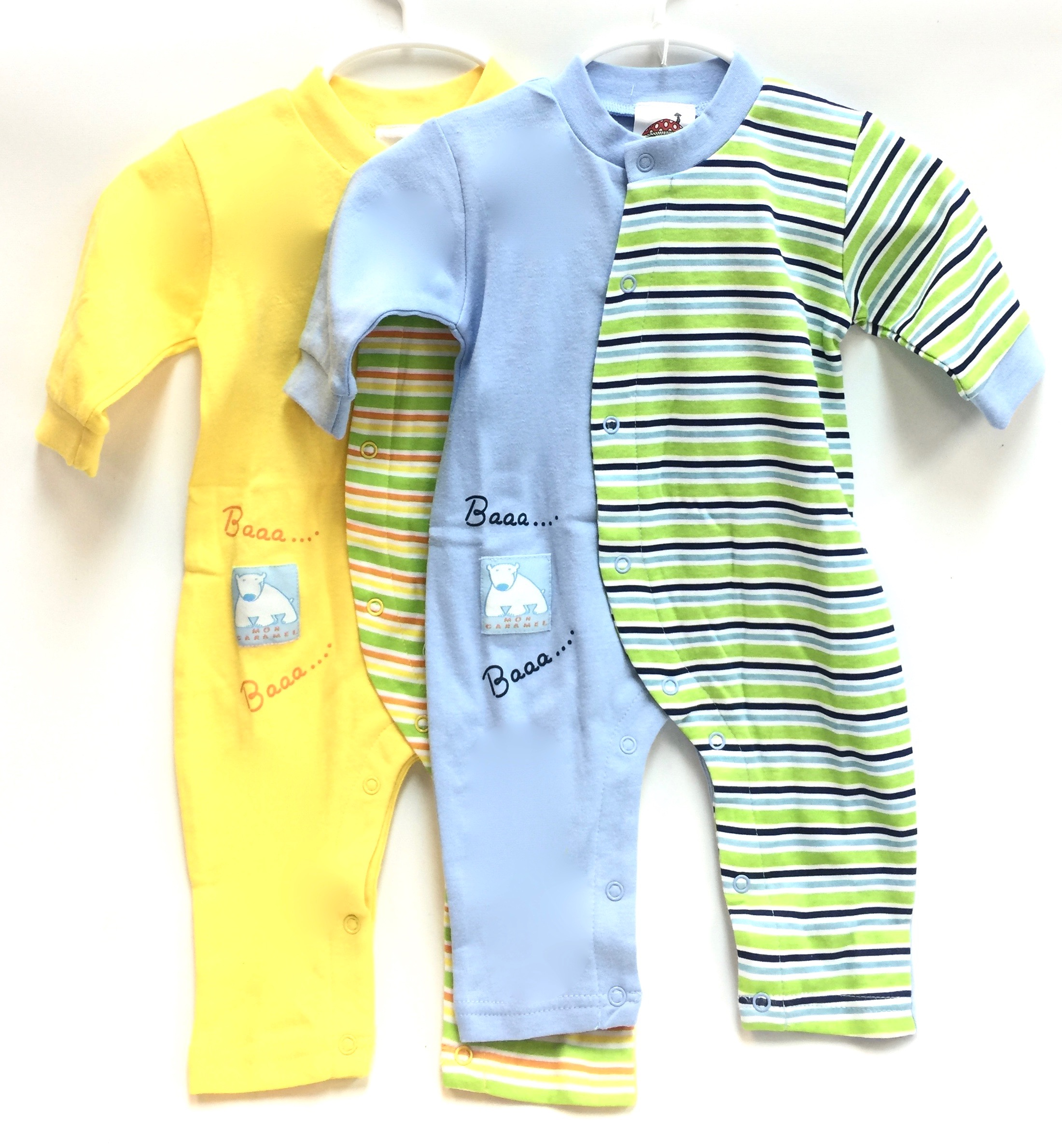 (IBWL502) Cotton Jumpsuit Blue/Yellow 2/A