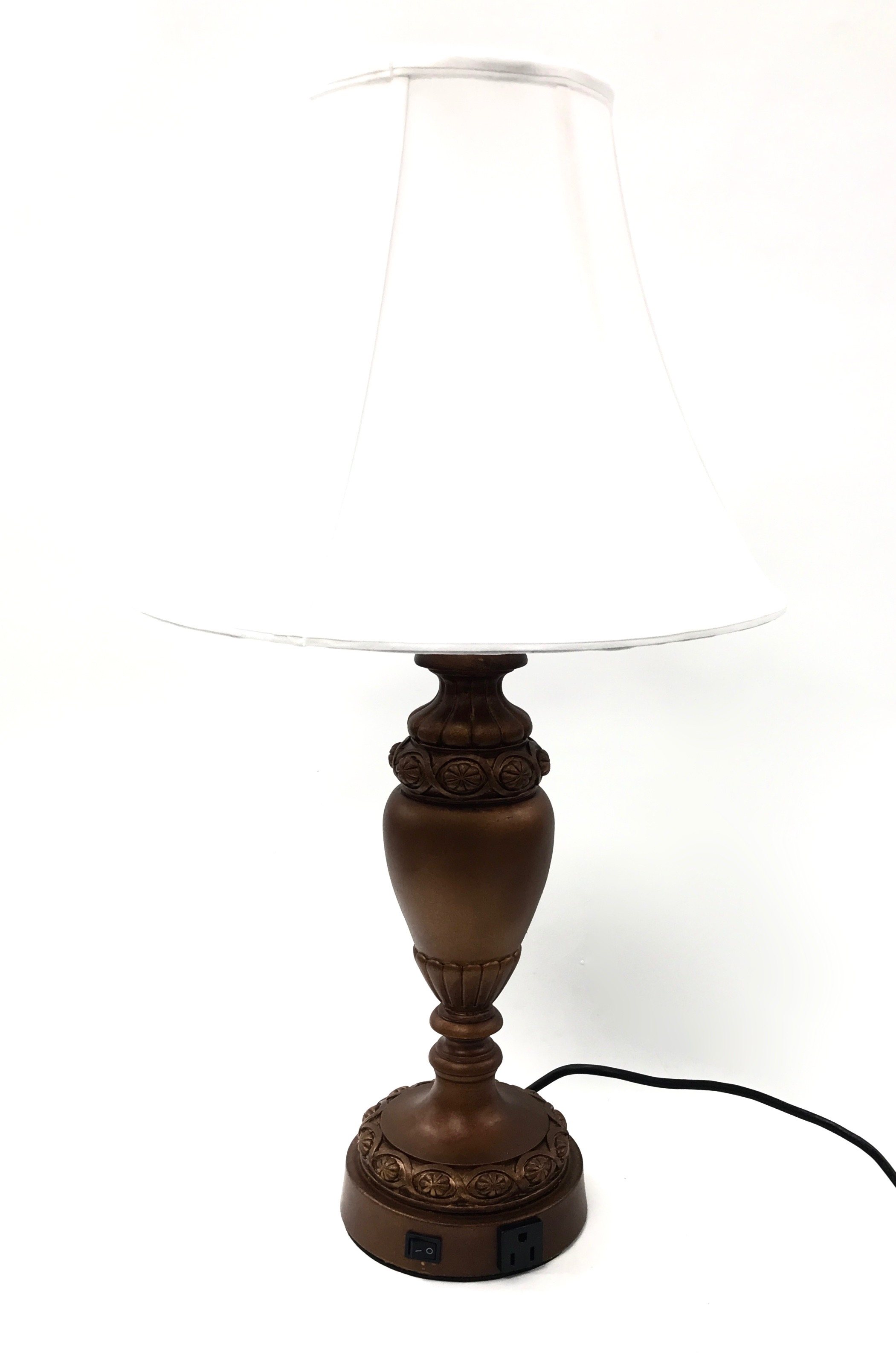 "27"" Table Lamp Poly Aged Bronze"