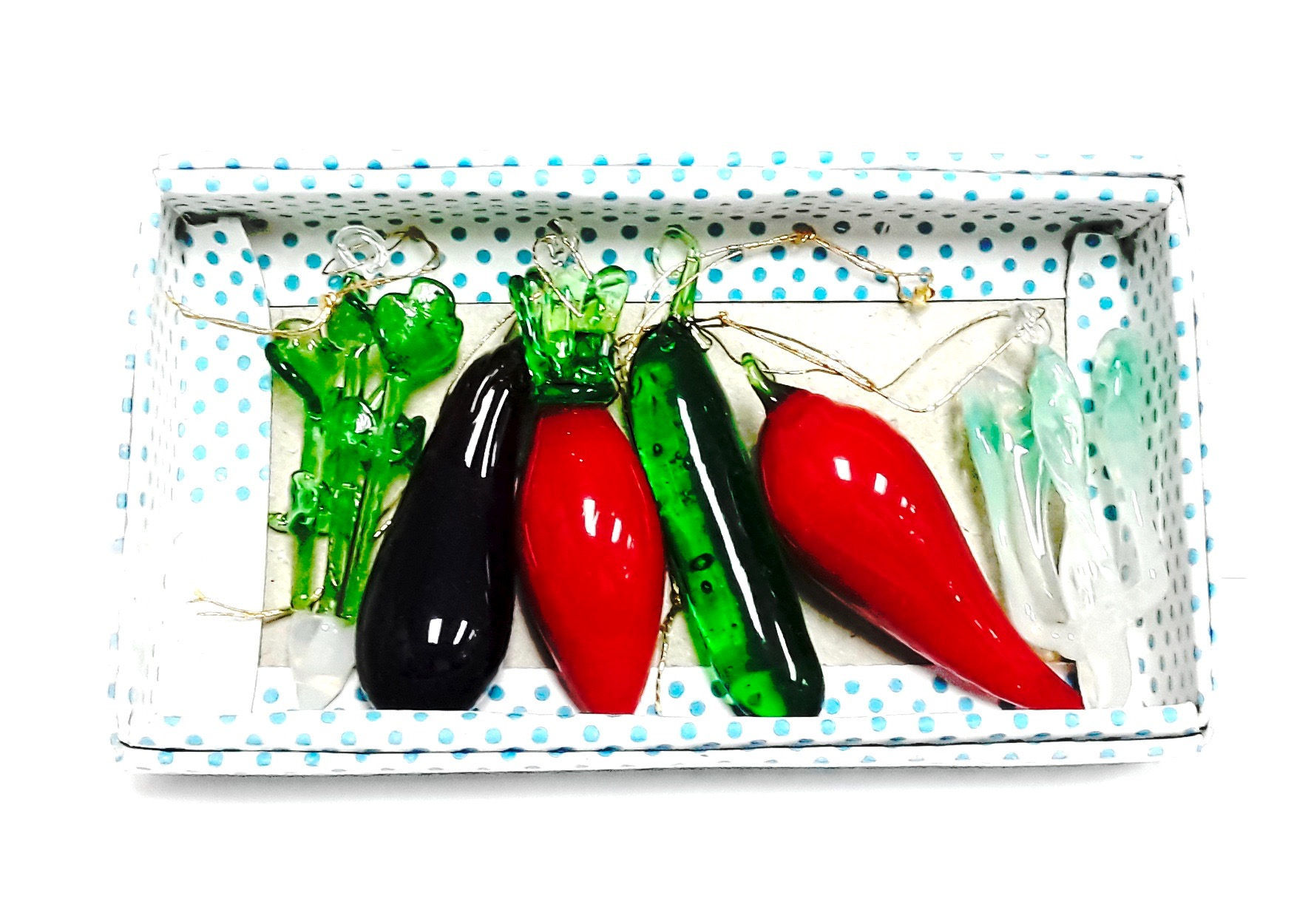 Asst Glass Vegetable 6pcs/set