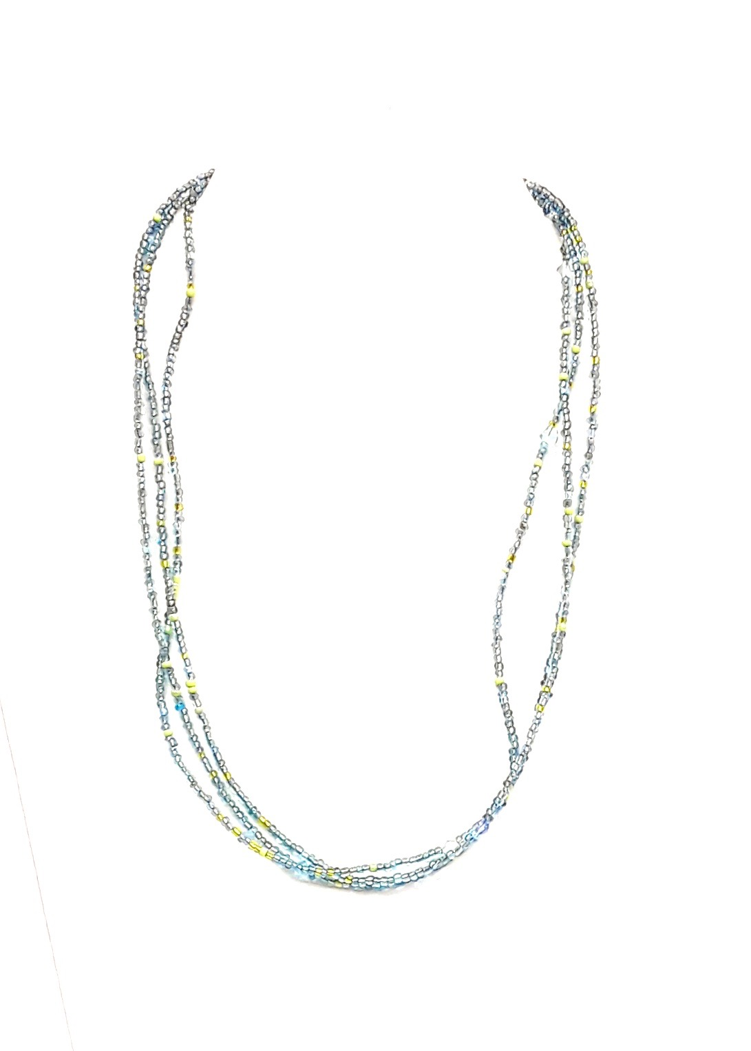 "18"" L Turquoise Multi Glass Bead Chain"