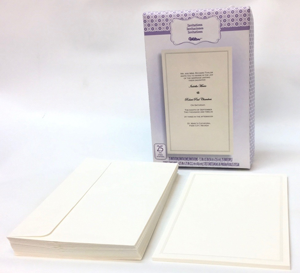 25 Ct Simplistic Ivory Basic Invitation