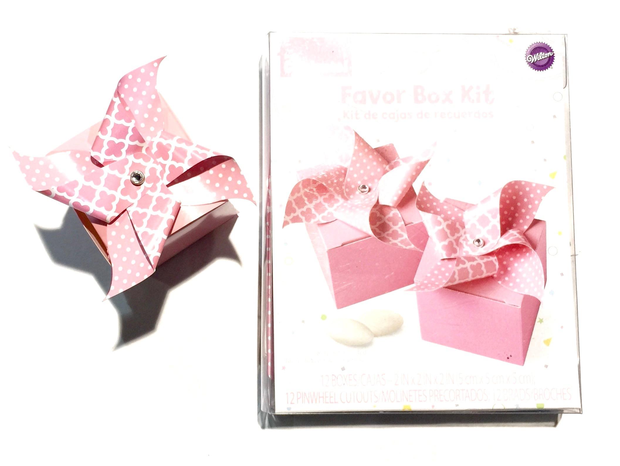 Pinwheel Favor Box Pink [W415-2428] - $0.83 : Toys Housewares Home ...