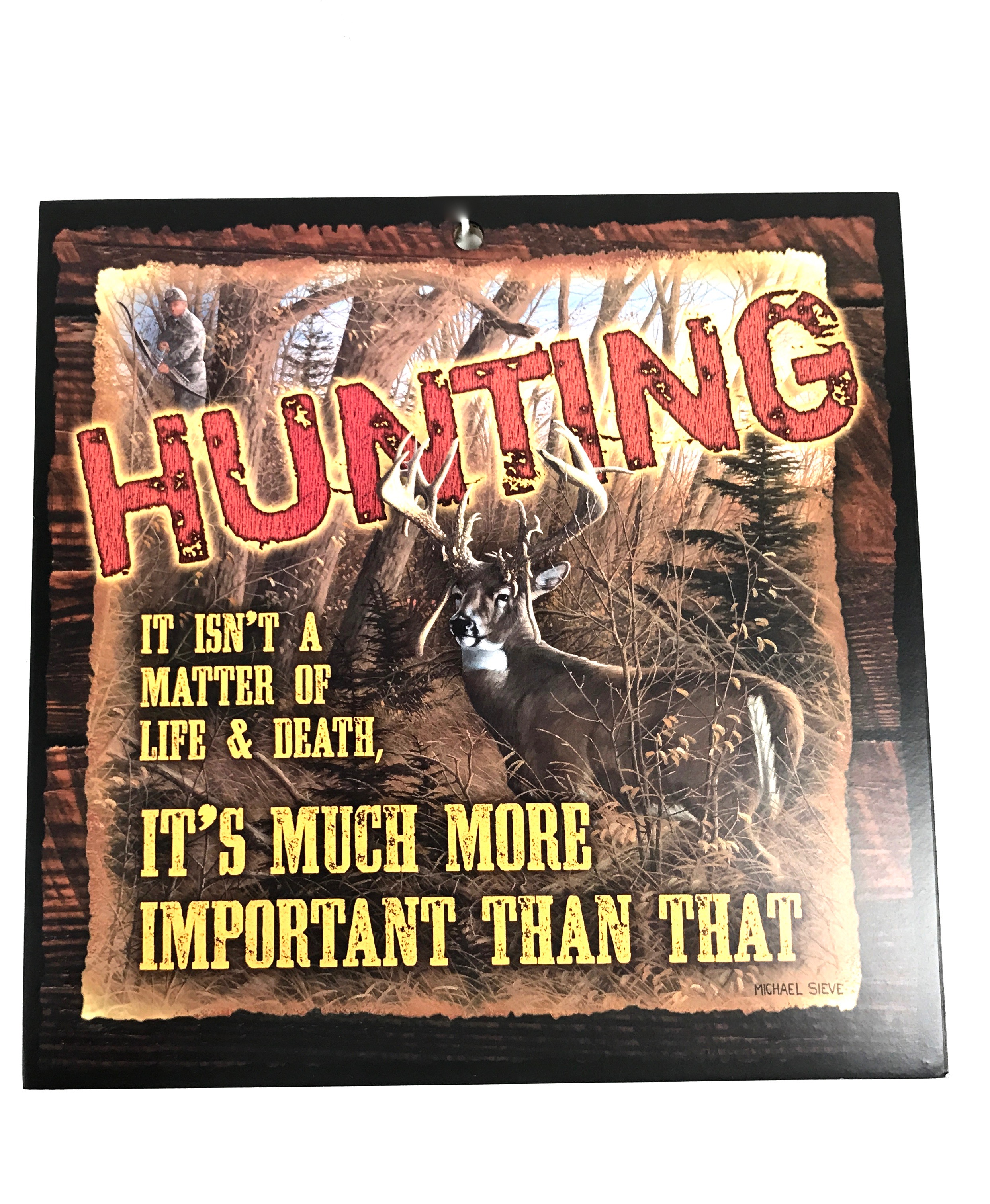 10x10 Hunt Matter of Life White Tail Dove Wood Sign