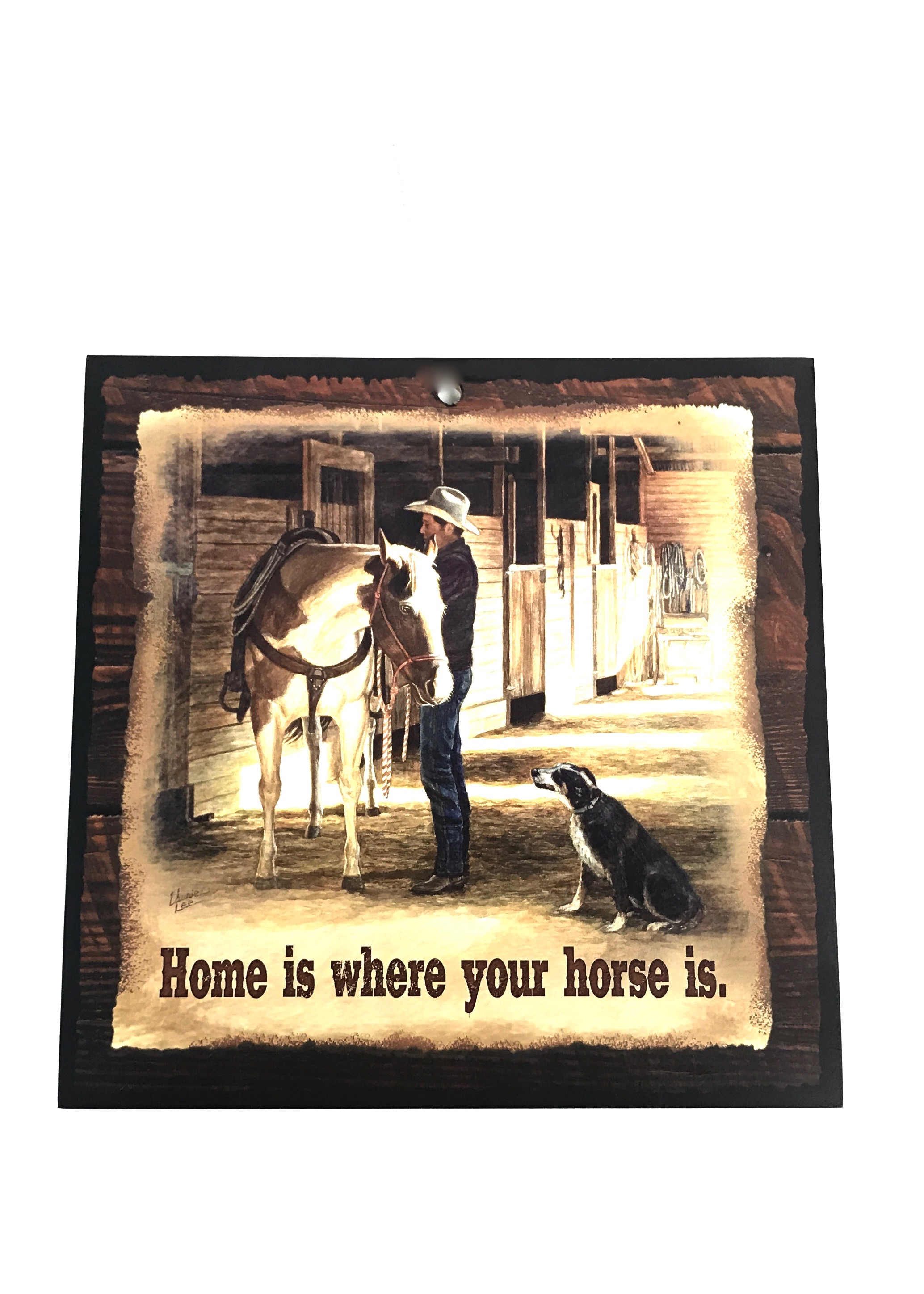 10x10 Home Where Horse Is Wood Sign