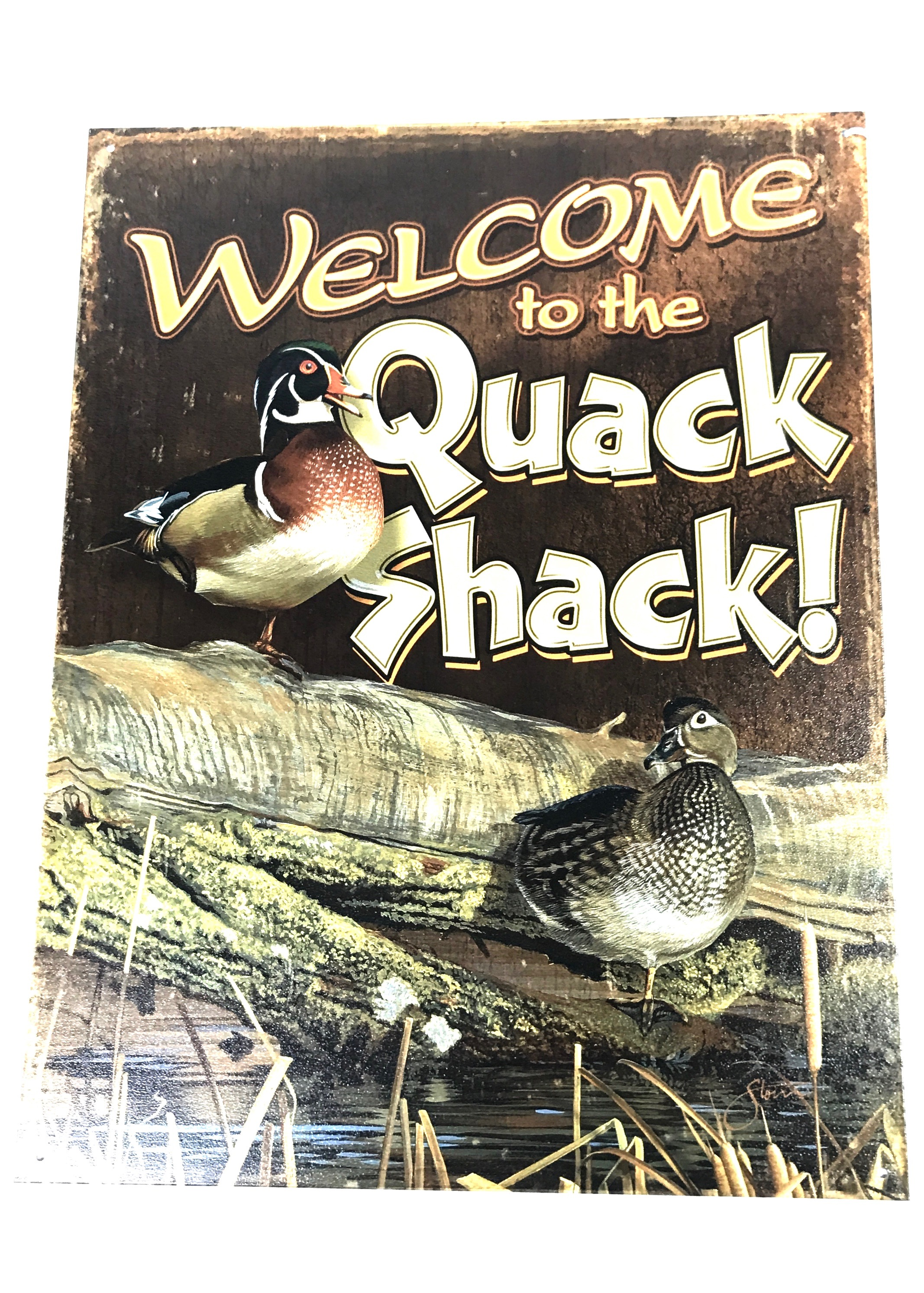 (8304) Welcome Quack Shack 12x16 Tin Sign