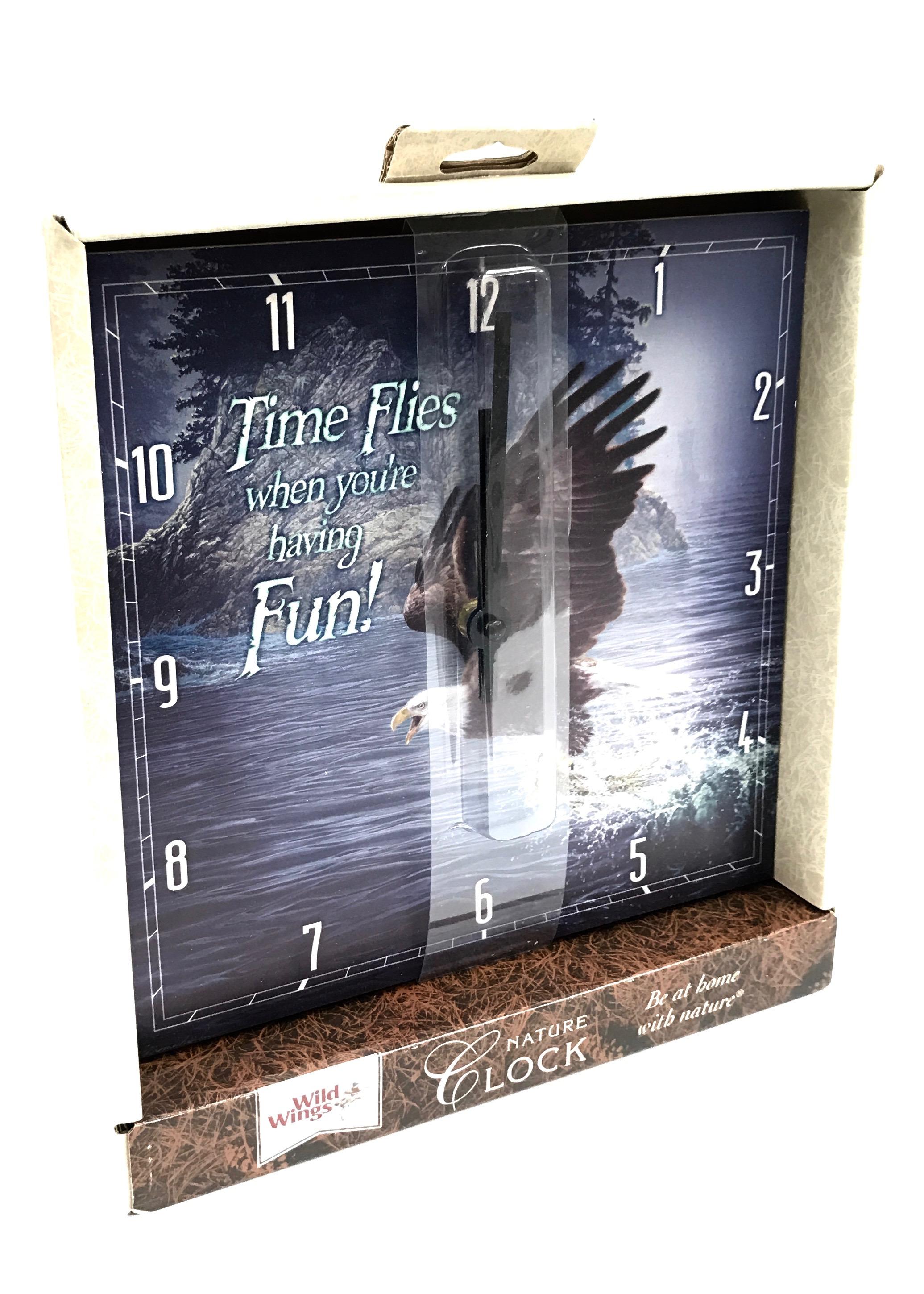 Canadian Wholesale Home Decor 10x10 Square Eagle Flies Clock Wg5842651032 4 95