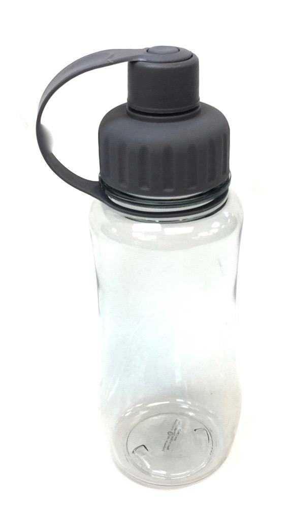Plastic Water Bottle Grey Top