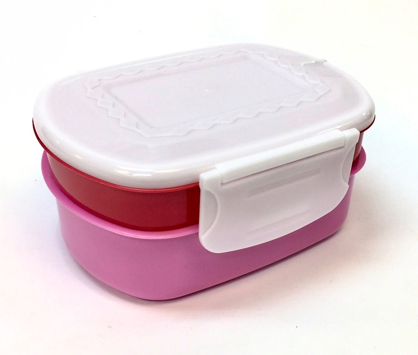 2-in-1 Plastic Lunch Box