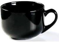(22-05) Ceramic Latte Mug Black