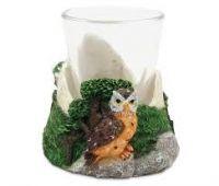 Stone Shot Glass Owl