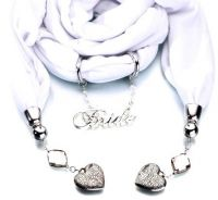 Bride Scarf White