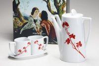 (10-RD) Teapot Set Dogwood Blossom Flame