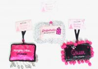 Pink Holiday Collection - Set/4 Pillow Ornaments