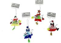 Mini Girl Ornaments - Set/4
