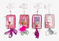 Set/4 Girly Message Ornaments