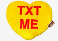 Text Me Candy Heart Pillow Large