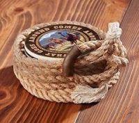 Coil Lariat Coaster Holder