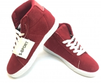 Womens Hightop Sneaker Red/White