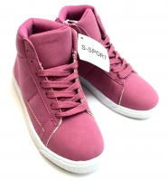 Womens Hightop Sneaker Pink/White