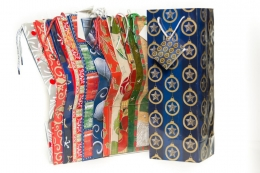 Wine Bag - Christmas Print Asst