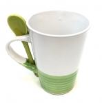 11 Oz Whitew/Lime Base & Spoon