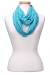 Classic Bright Stripe Infinity Scarf Asst